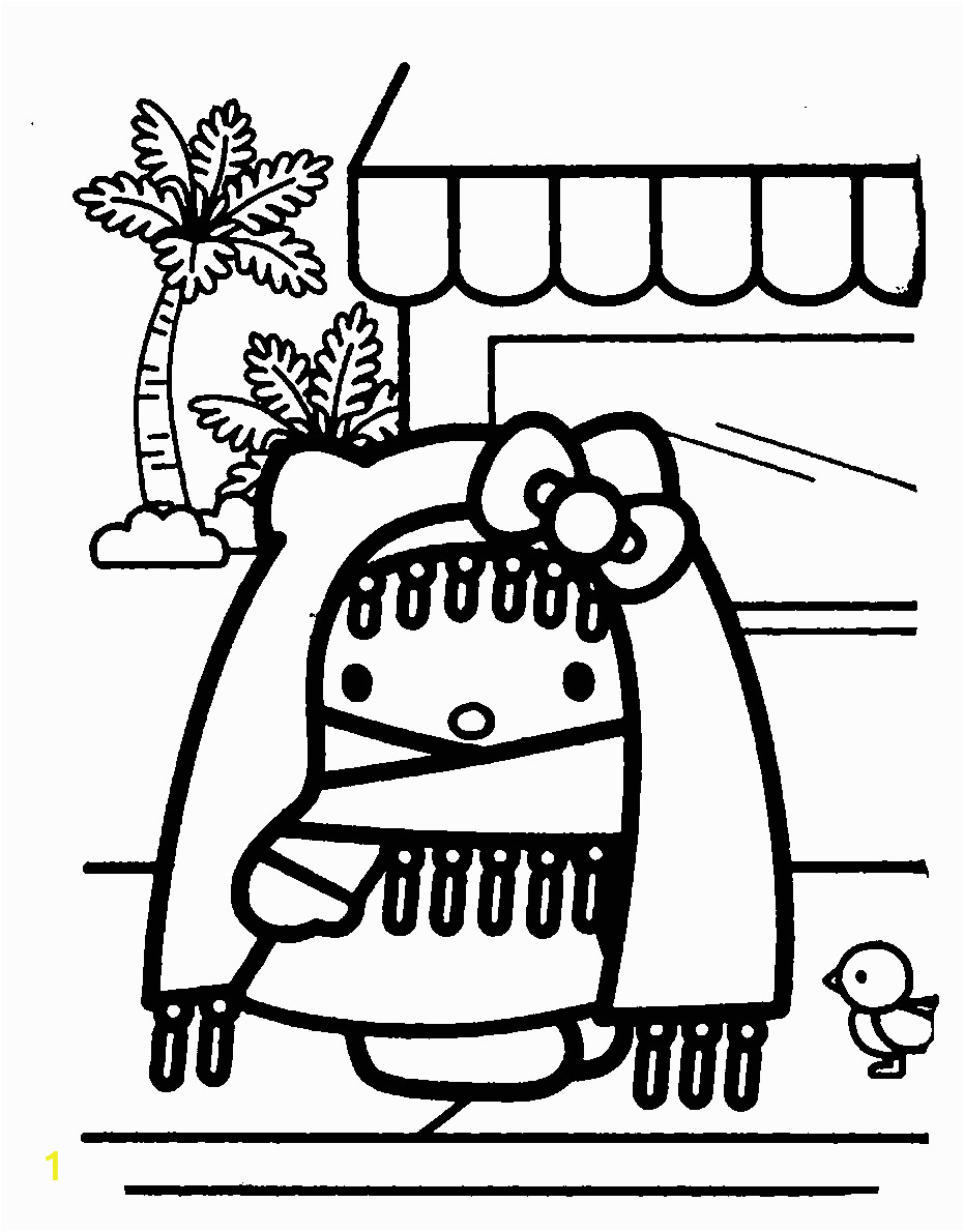 Hello Kitty Heart Coloring Pages Hello Kitty Coloring Pages