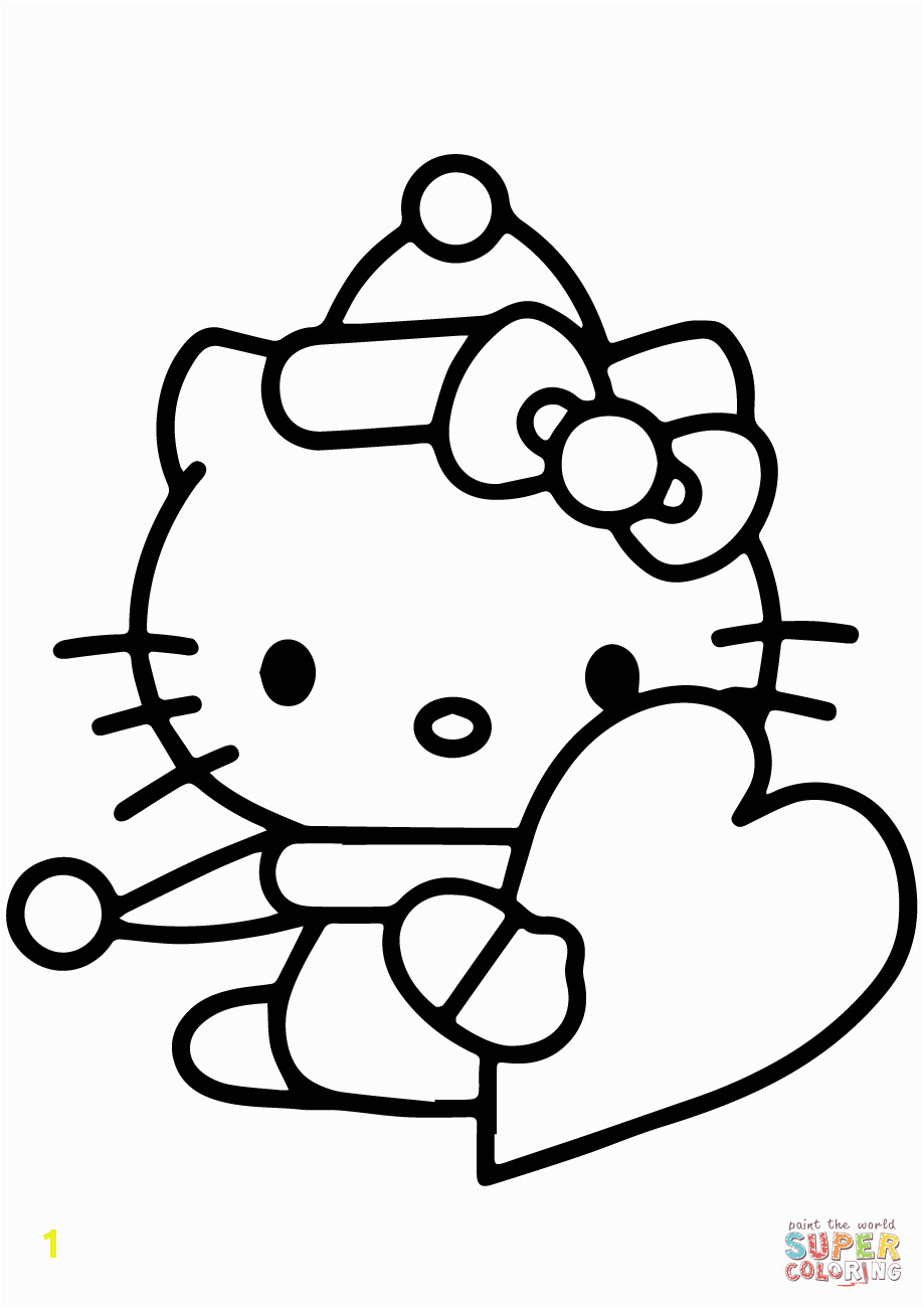 Hello Kitty Heart Coloring Pages Library Of Hello Kitty Valentine Free Stock Png Files