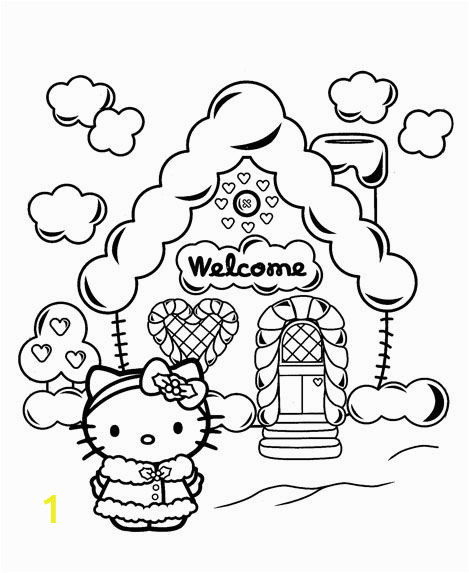 Hello Kitty House Coloring Pages 79 Best Pages to Color with Daughter Images