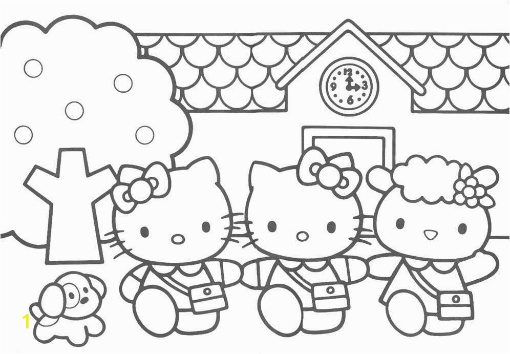 Hello Kitty House Coloring Pages What Color is Hello Kitty Coloring Home