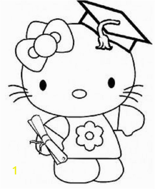 Hello Kitty Logo Coloring Pages Hello Kitty Graduation Coloring Pages with Images