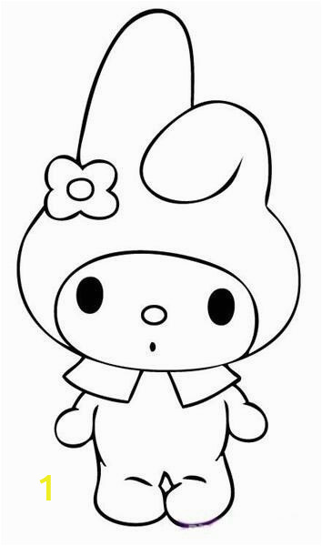 Hello Kitty Pictures Coloring Pages My Melody with Images