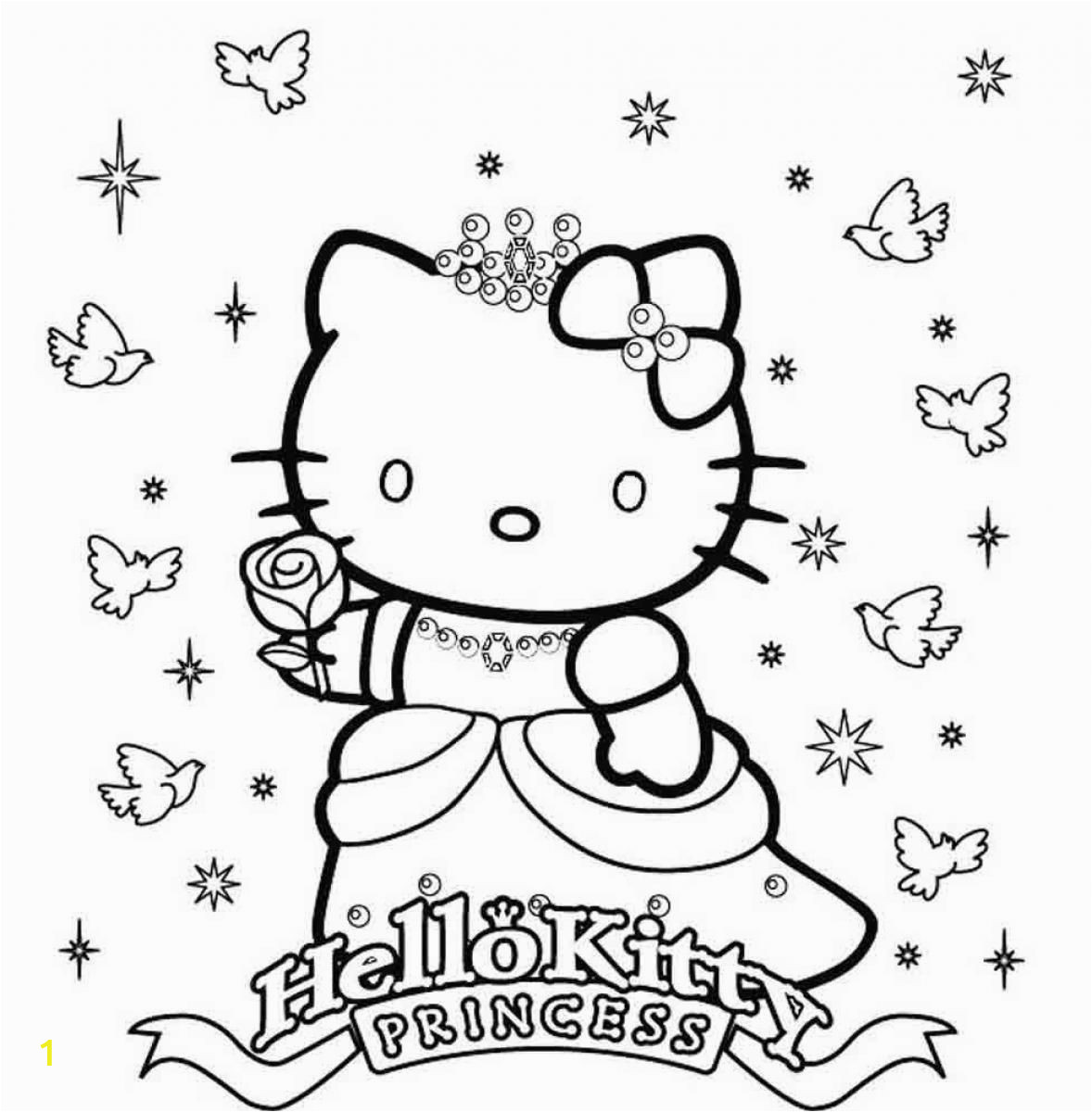 Hello Kitty Princess Coloring Pages Hellokittycoloringpage