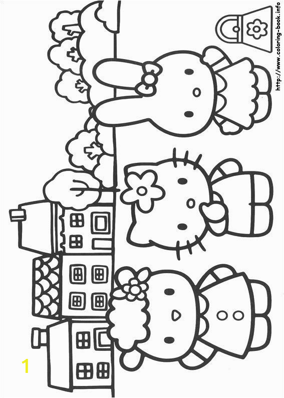 Hello Kitty School Coloring Pages Hello Kitty Coloring Picture