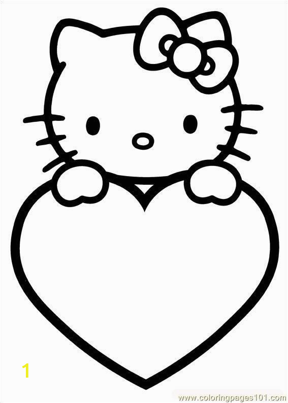Hello Kitty Valentine Coloring Pages to Print Valentinstag Malvorlagen Zum Valentinstag with Images