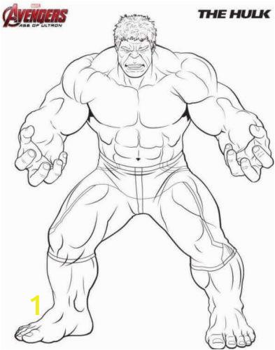 Hulk Coloring Page 393x500
