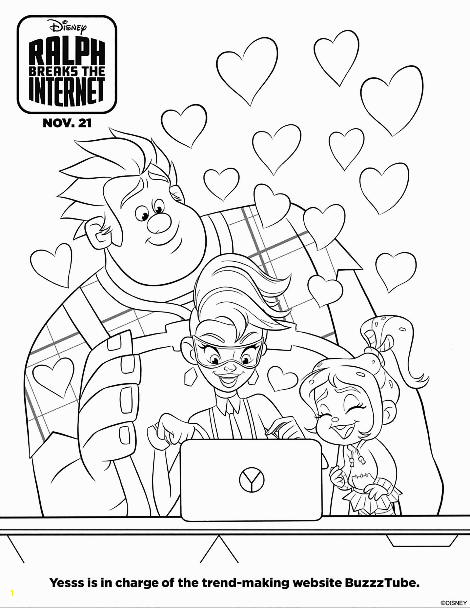 coloring pages for children wreck it ralph 2 9235