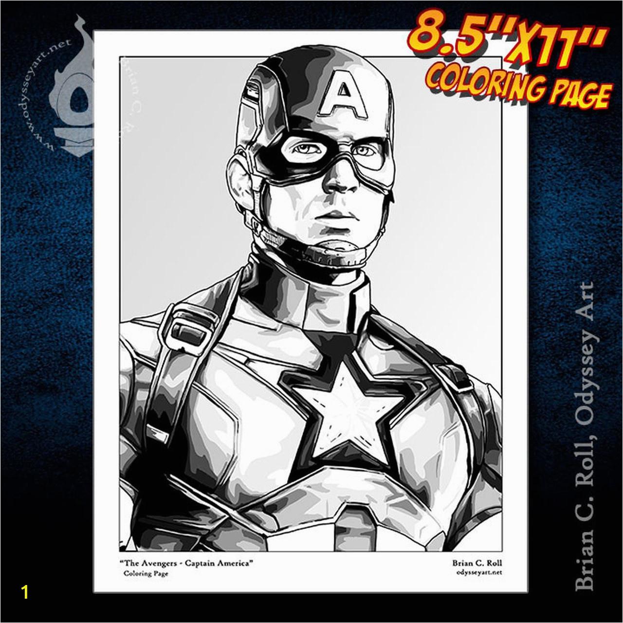 Avengers CaptainAmerica 8x11coloringpage store