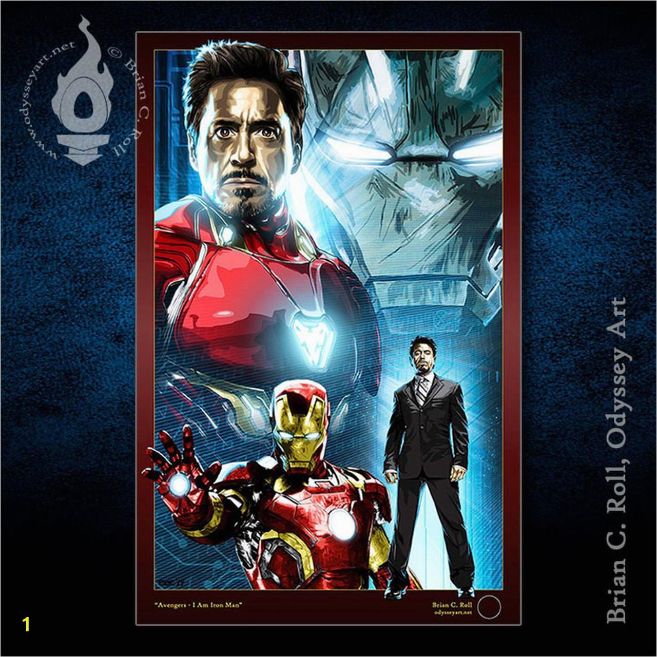 Avengers IAmIronMan 11x17print store
