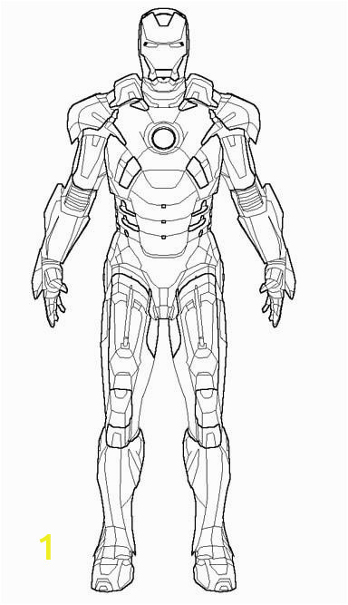 Iron Man Coloring Page for Kindergarten the Robot Iron Man Coloring Pages with Images