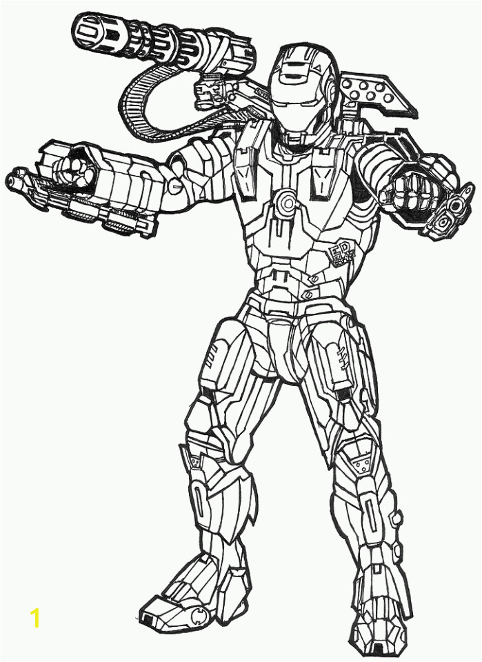 free ironman coloring pages