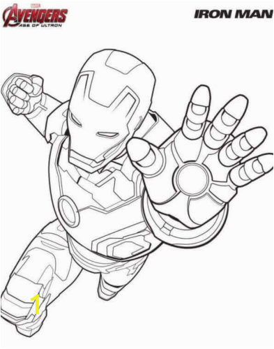 Iron Man Coloring Page 393x500