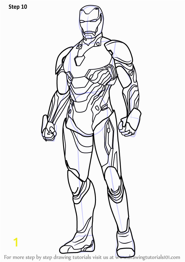 Iron Man Drawing for Coloring Step by Step How to Draw Iron Man From Avengers Infinity