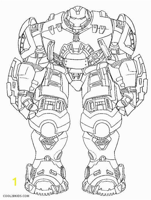 Hulkbuster Coloring Pages
