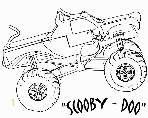 Iron Man Monster Truck Coloring Page Monster Jam Scooby Doo Monster Truck Coloring Pages Color