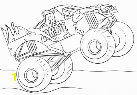 Iron Man Monster Truck Coloring Page Zombie Monster Truck Coloring Page