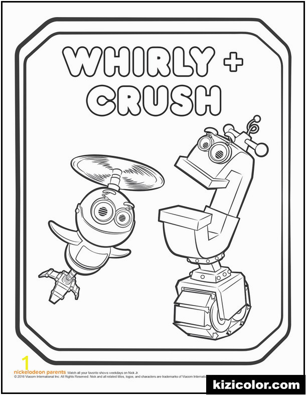 Rusty Rivets Whirly and Crush Coloring Page