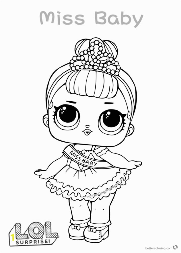 Miss Baby LOL Dolls Coloring Pages 731x1024