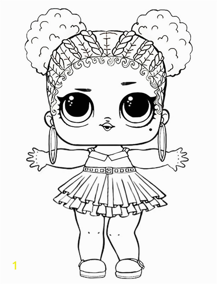 Purple Queen LOL Doll Coloring Pages
