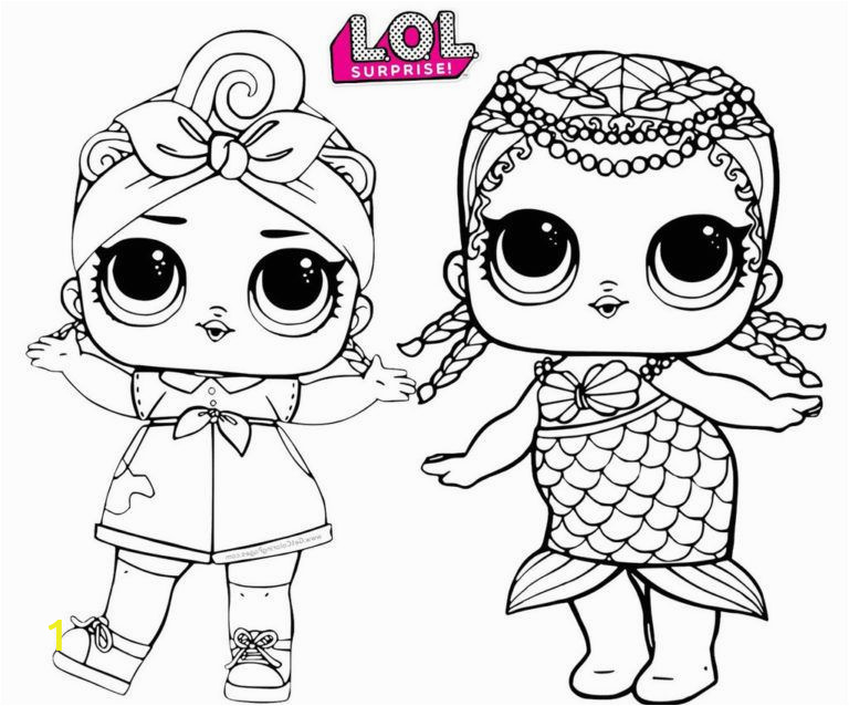 Lol Doll Coloring Pages Printable Sweet and Cute Lol Surprise Coloring Pages for Doll