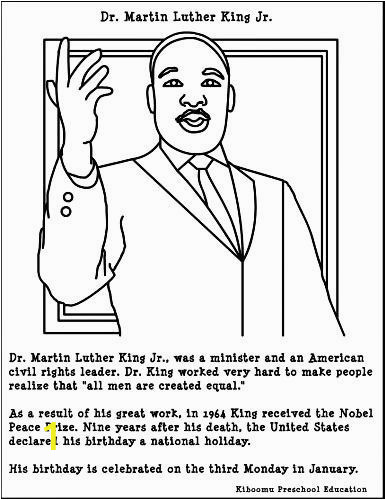 Martin Luther King Jr Coloring Pages Printable Martin Luther King Jr Coloring Page with Images