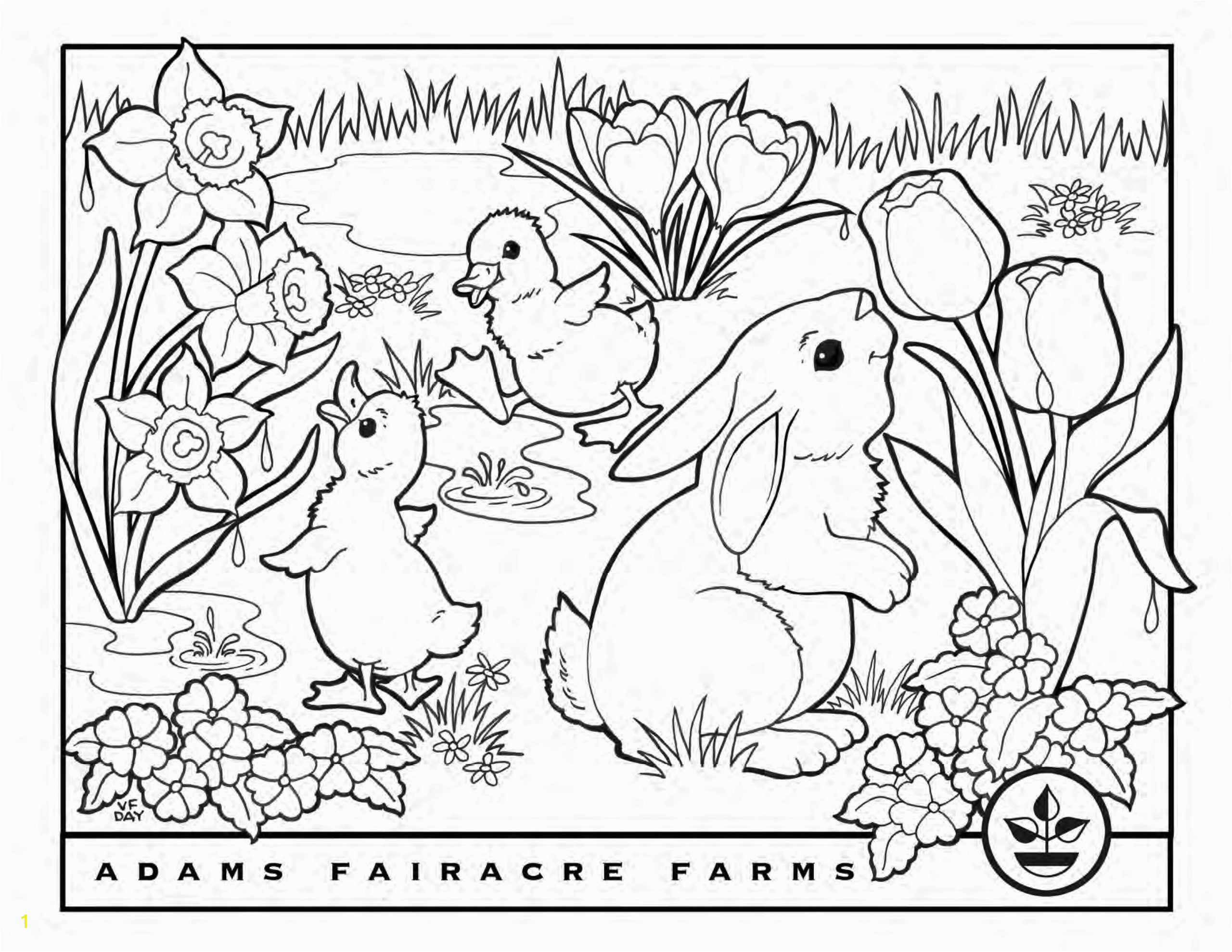 EasterColoringBook Page 1 scaled