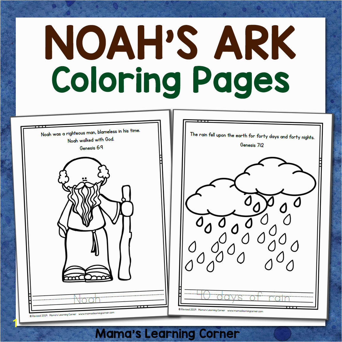 Noahs Ark Coloring Pages 8x8