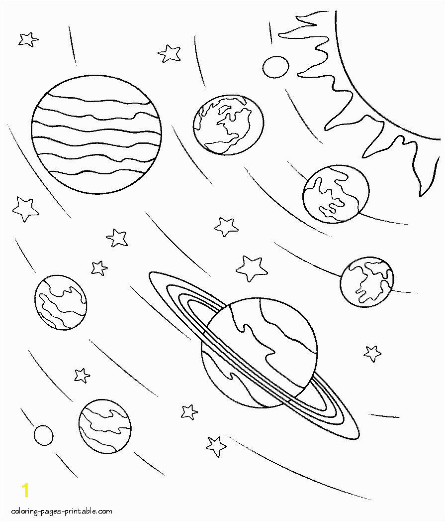 Outer Space Coloring Pages Printable Space Coloring Pages
