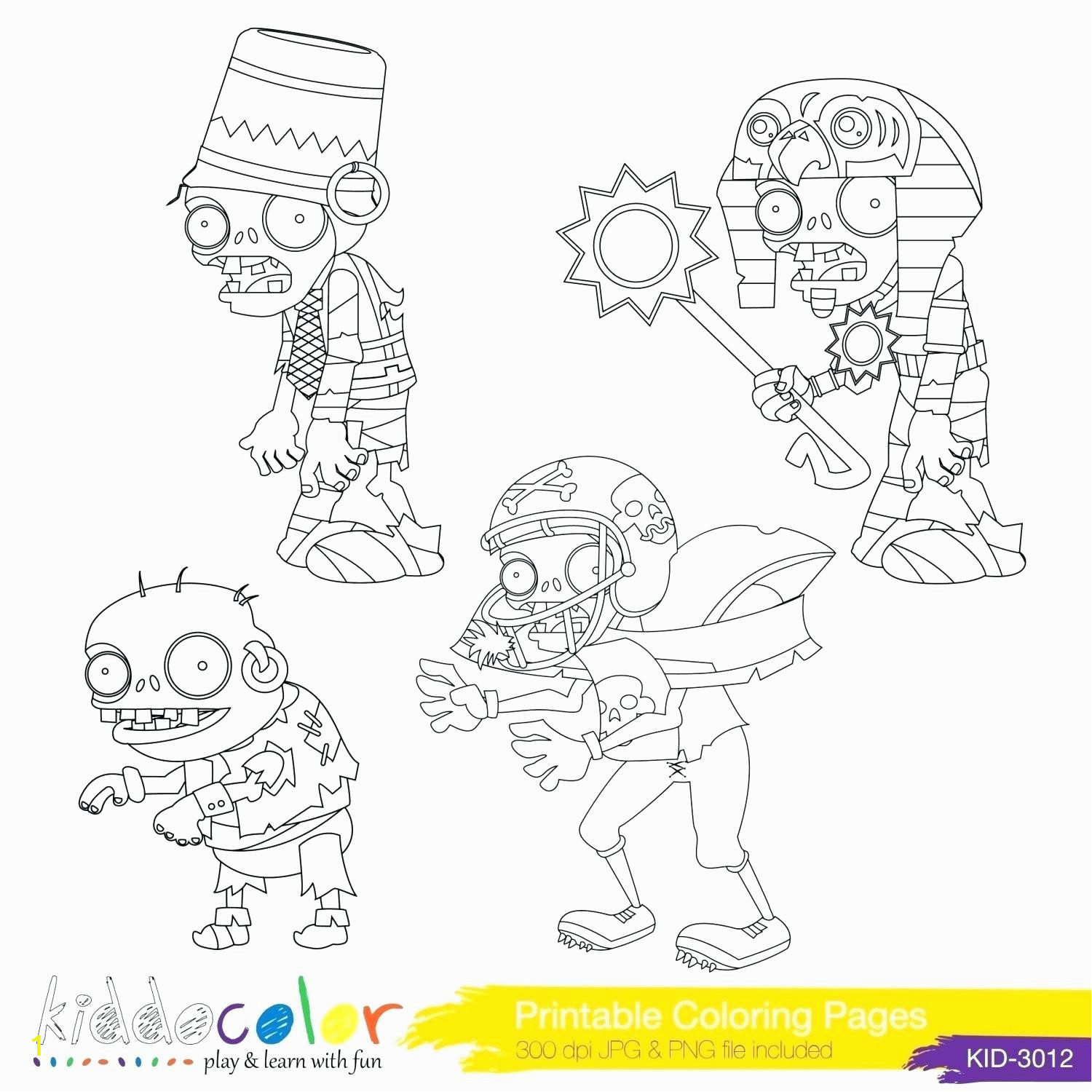 coloring pages plants vs zombies printable colouring
