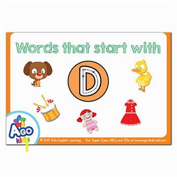 FREE Alphabet Flashcards ABCs 123s AGO Kids ESL FUNbook 19