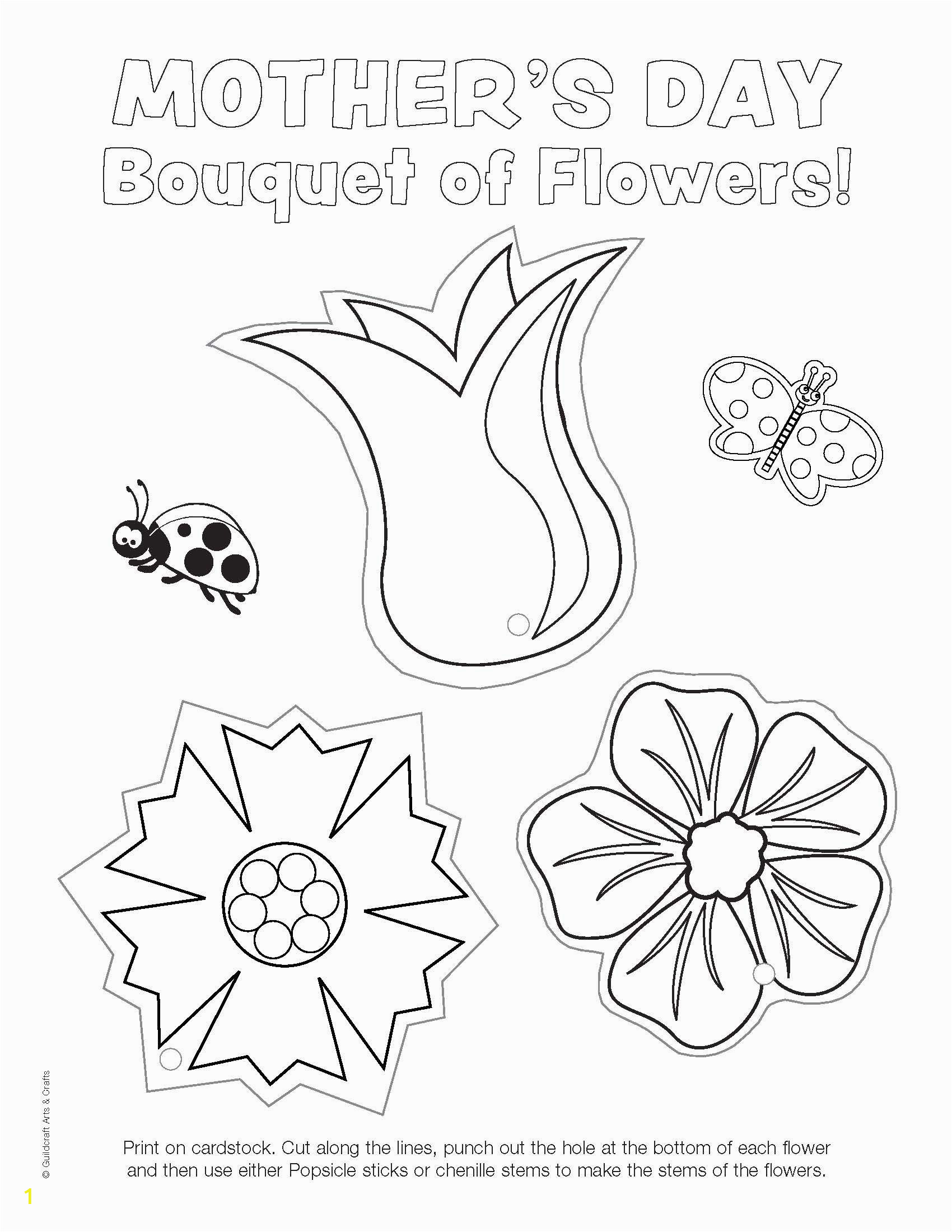 Printable Mothers Day Coloring Pages Ready to Color Mother S Day Flowers Printable with Images
