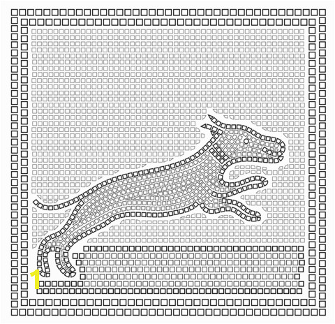 roman mosaic with with a hunting scene coloring pages