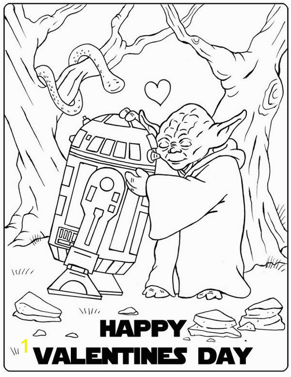 Printable Valentine Coloring Pages Disney Star Wars Valentine Coloring Page with Images