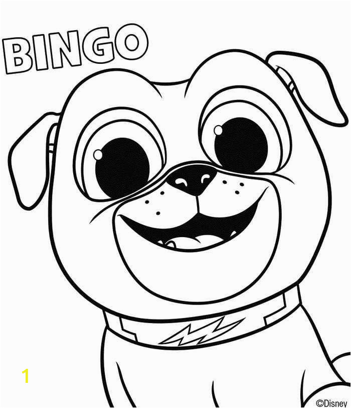 Puppy Dog Pals Coloring Pages Printable Puppy Dog Pals Coloring Page Bingo Di 2020