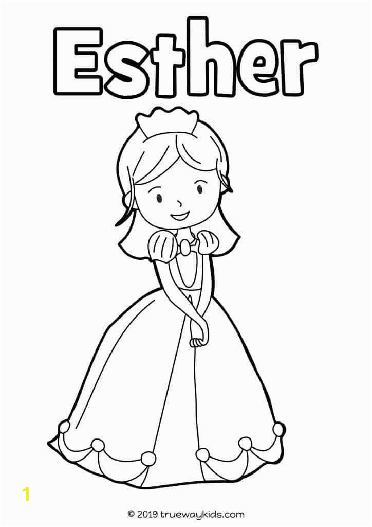 Queen Esther Coloring Pages Printable Esther Preschool Bible Lesson with Images