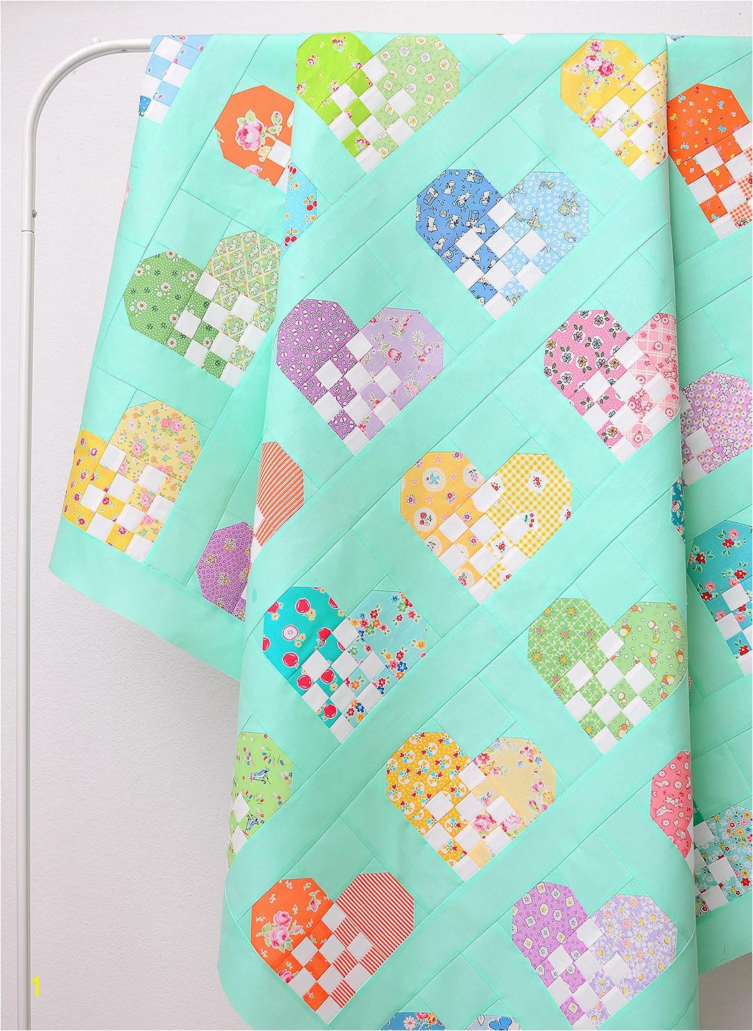 checkered heart quilt free quilt pattern free tutorial nadra ridgeway ellis and higgs 11