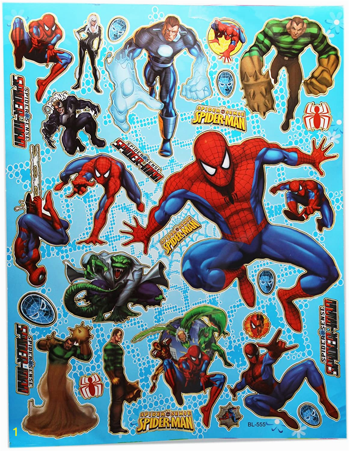 Spider Man Jumbo Coloring Book Amazon Blue Spider Sense Spiderman Sticker Sheet
