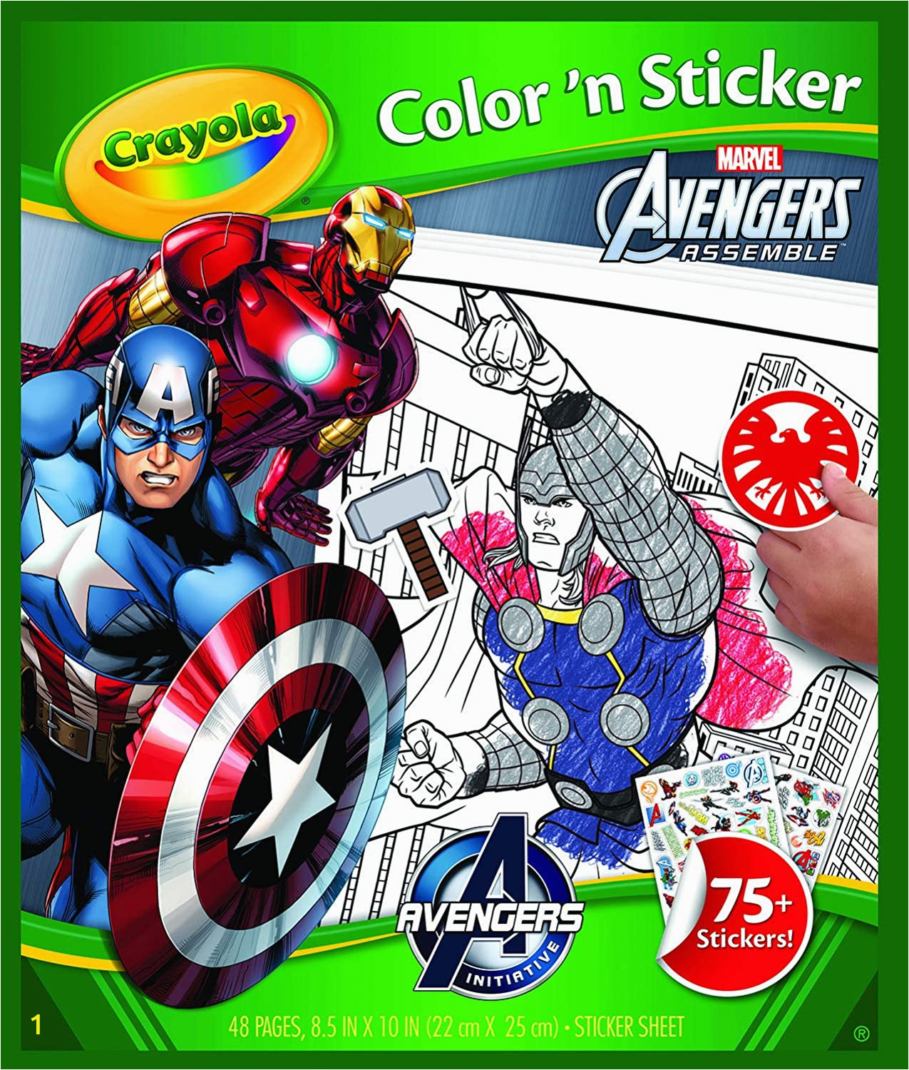 Spider Man Jumbo Coloring Book Crayola Avengers Color N Sticker Books Stickers Amazon