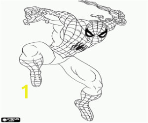Spider Man Noir Coloring Pages Spider Man In Action Coloring Page