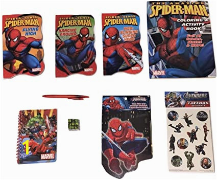 Spiderman Coloring and Activity Book Amazon Marvel Spiderman Bundle Of 8 Activity Gift Set