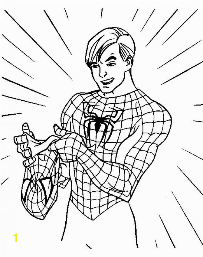 Spiderman Coloring Pages to Print Black Spider Man Coloring Pages