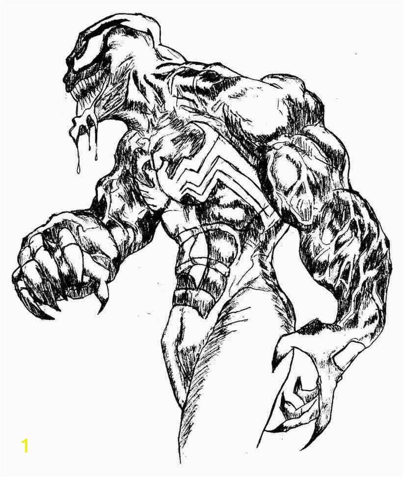 Venom Spiderman Coloring Page