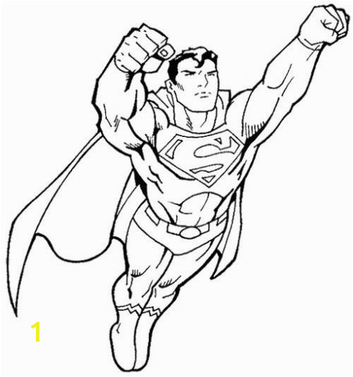 Superman Coloring Page for toddlers 315 Kostenlos Superman Fly Coloring Page Free Printable