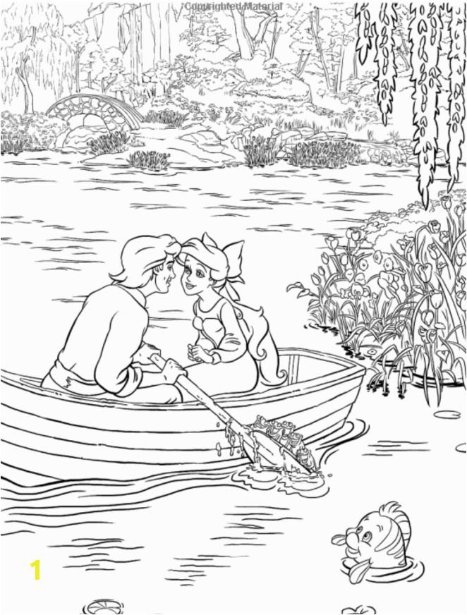 Disney Dreams Collection Thomas Kinkade Studios Coloring Book Little Mermaid 2