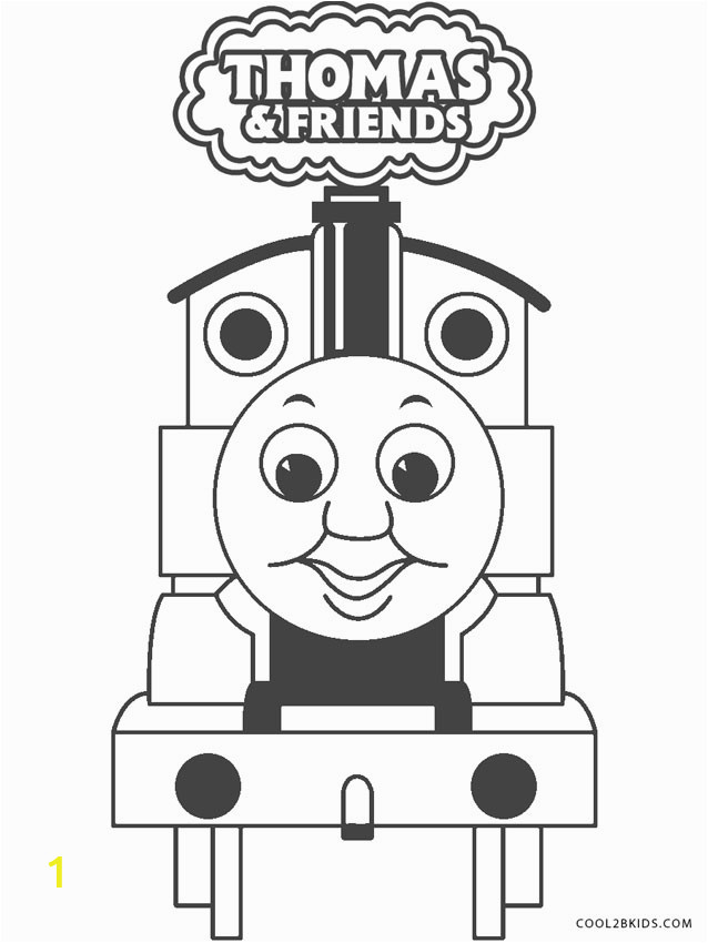 Thomas The Train Coloring Pages line