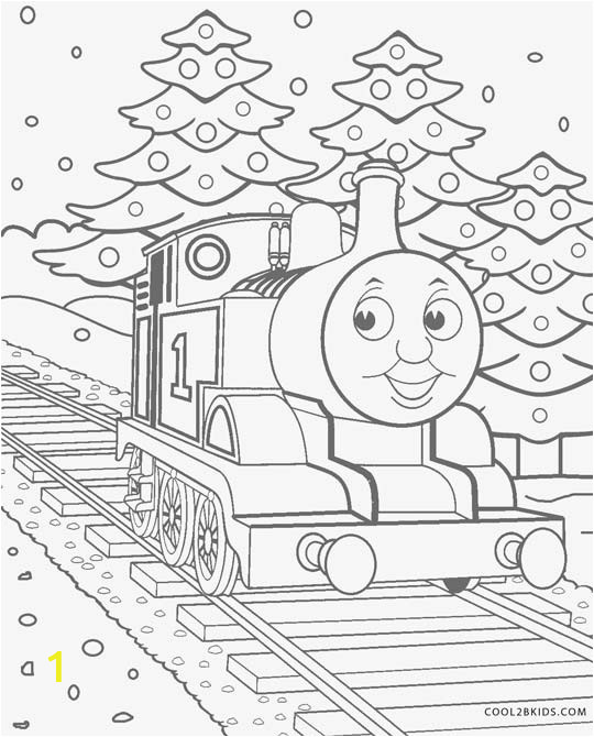 Christmas Thomas The Train Coloring Pages