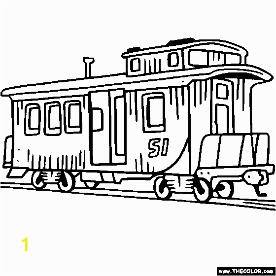 train coloring pages 15