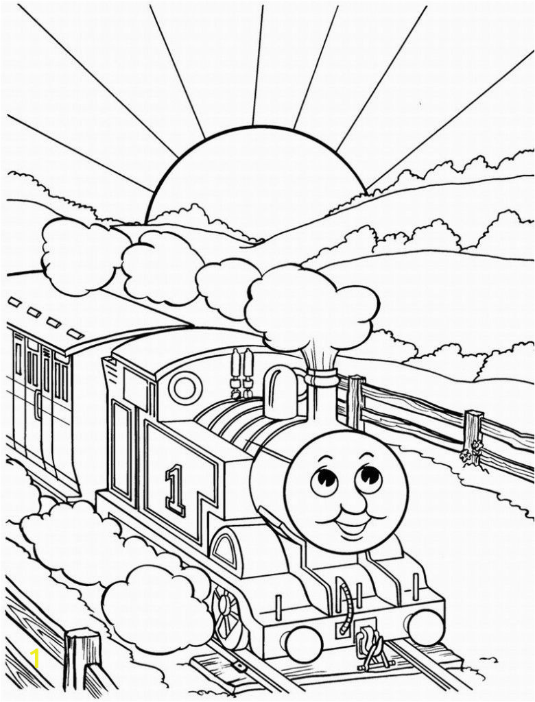 Train Coloring Book for Adults Thomas the Train Color Pages 780—1 024 Pixels