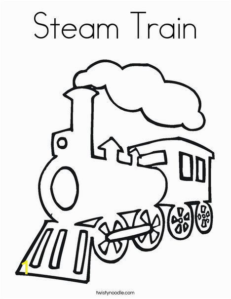Train Coloring Pages for toddlers Steam Train Coloring Page From Twistynoodle Would Make A