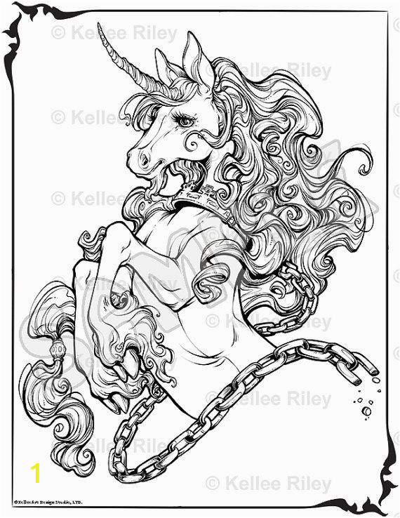 Unicorn Coloring Pages for Adults Unicorn Adult Coloring Pages